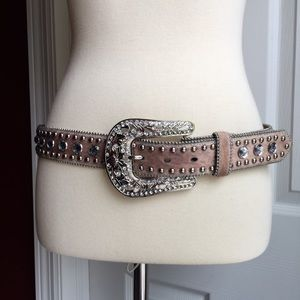 Blazin Roxx Western Belt Faux Fur hair
